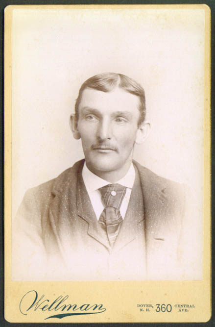 Seth Keniston cabinet card by Wellman Dover NH