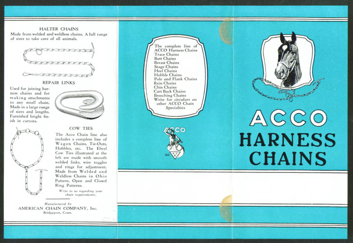 ACCO Harness Chains folder Bridgeport CT 1920s