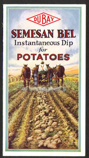 Du Bay Semesan Bel Instantaneous Potato Dip folder 1920s