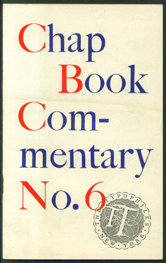 Biemieller Typophile Chap Book Commentary #6 1940s