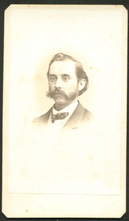 Mustache & sideburns CDV N C Sanborn Lowell MA