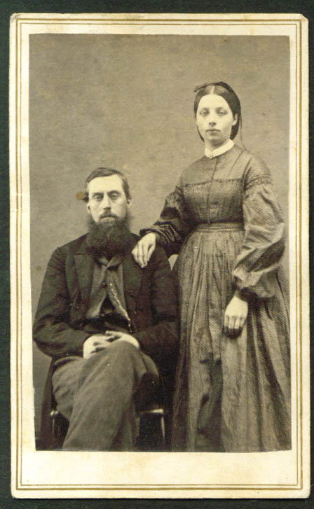 Man & wife CDV J L Delongs: Cooperstown NY