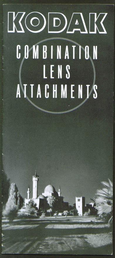 Kodak Combination Lens Attachments brochure 1941