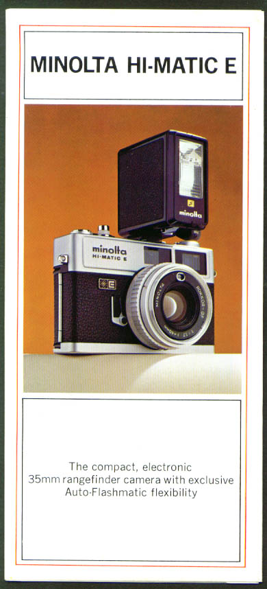 Minolta 35mm Hi-Matic E Camera folder 1970s