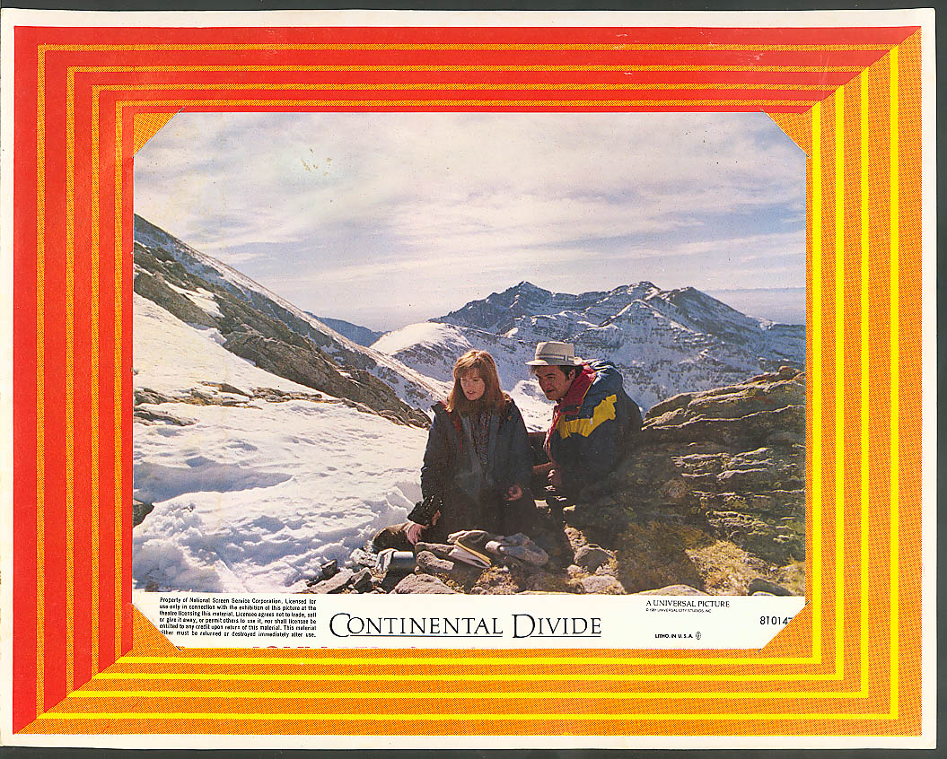 Blair Brown John Belushi Continental Divide lobby card