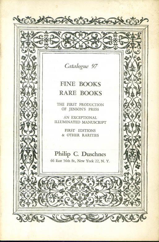 Philip C Duschnes Fine & Rare Books Catalog #97 1950