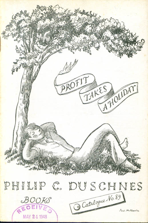 Philip C Duschnes Profit Takes a Holiday Book Catalog #89