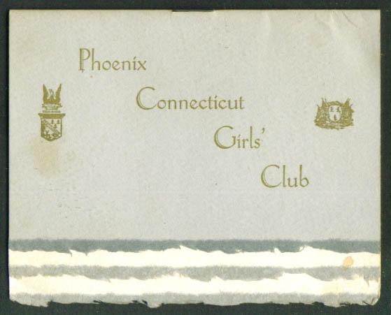 Phoenix CT Girls' Club Fall Dance program 1948 Hartford