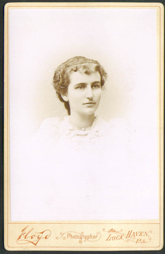 Lovely young girl cabinet card Floyd: Lock Haven PA