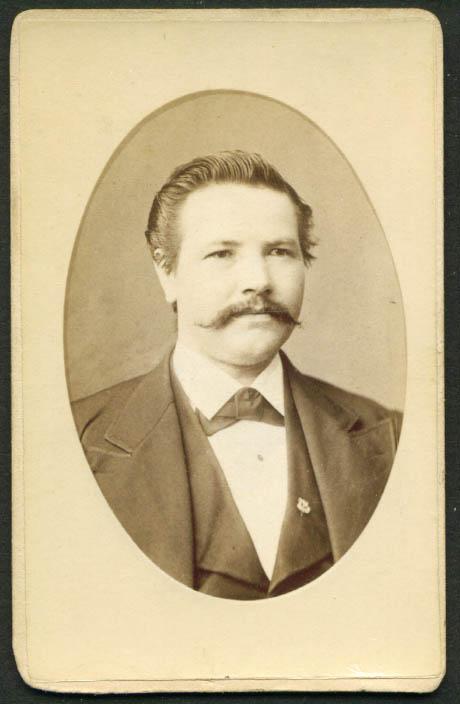 Handlebar mustache wide face CDV Henry Holler Brooklyn