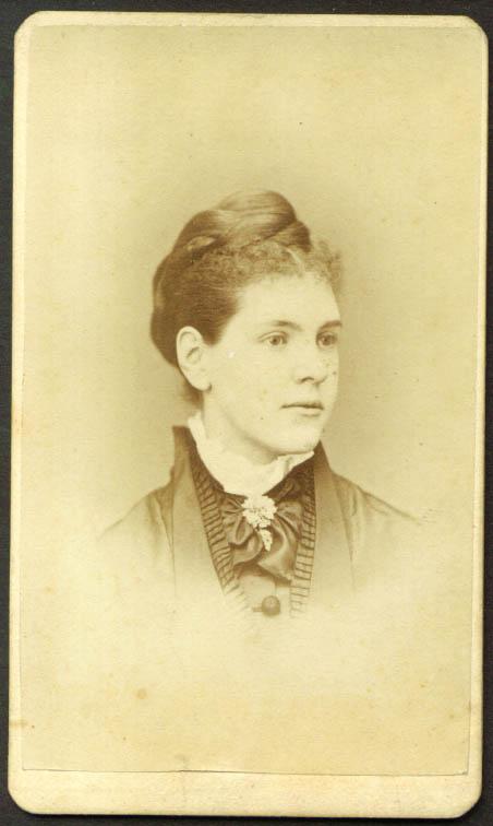 Young woman braided hair CDV Smith & Bousley: Salem MA
