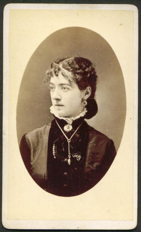 Oval-faced young woman CDV J P Weckman: Cincinnati OH