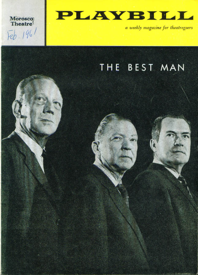 Image for The Best Man Gore Vidal Playbill 1st run 1961