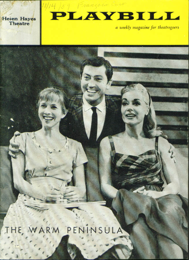 Image for Farley Granger The Warm Peninsula Playbill 1959 1st run