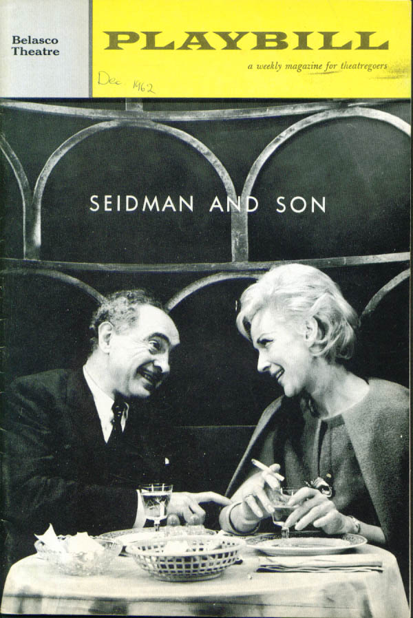 Image for Sam Levene Seidman & Son Playbill 1st run 1962