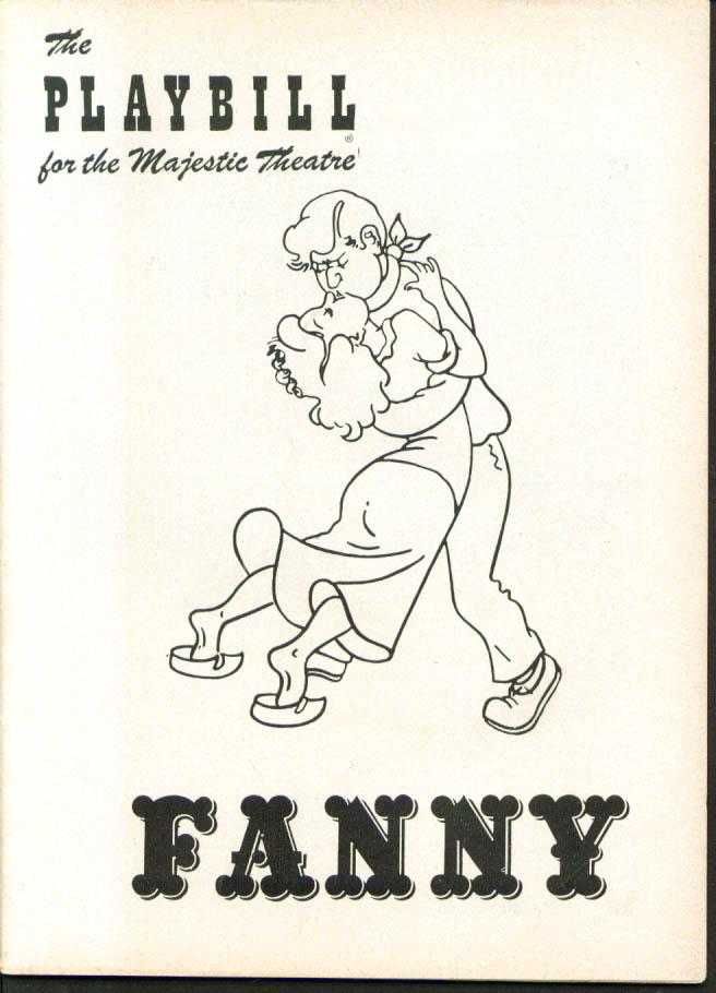 Ezio Pinza Walter Slezak Fanny Playbill 1st run 1954