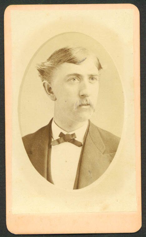 Long-facd blond mustache CDV R S De Lamater Hartford CT
