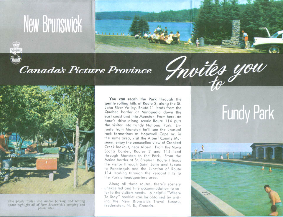 Fundy National Park New Brunswick folder 1968