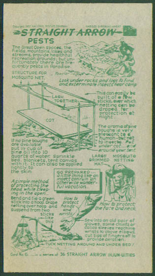 Nabisco Straight Arrow Card Book 4 #6 Pests