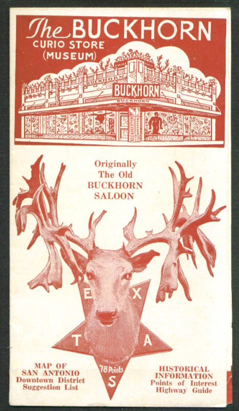 Buckhorn Curio Store Museum San Antonio TX folder 1939