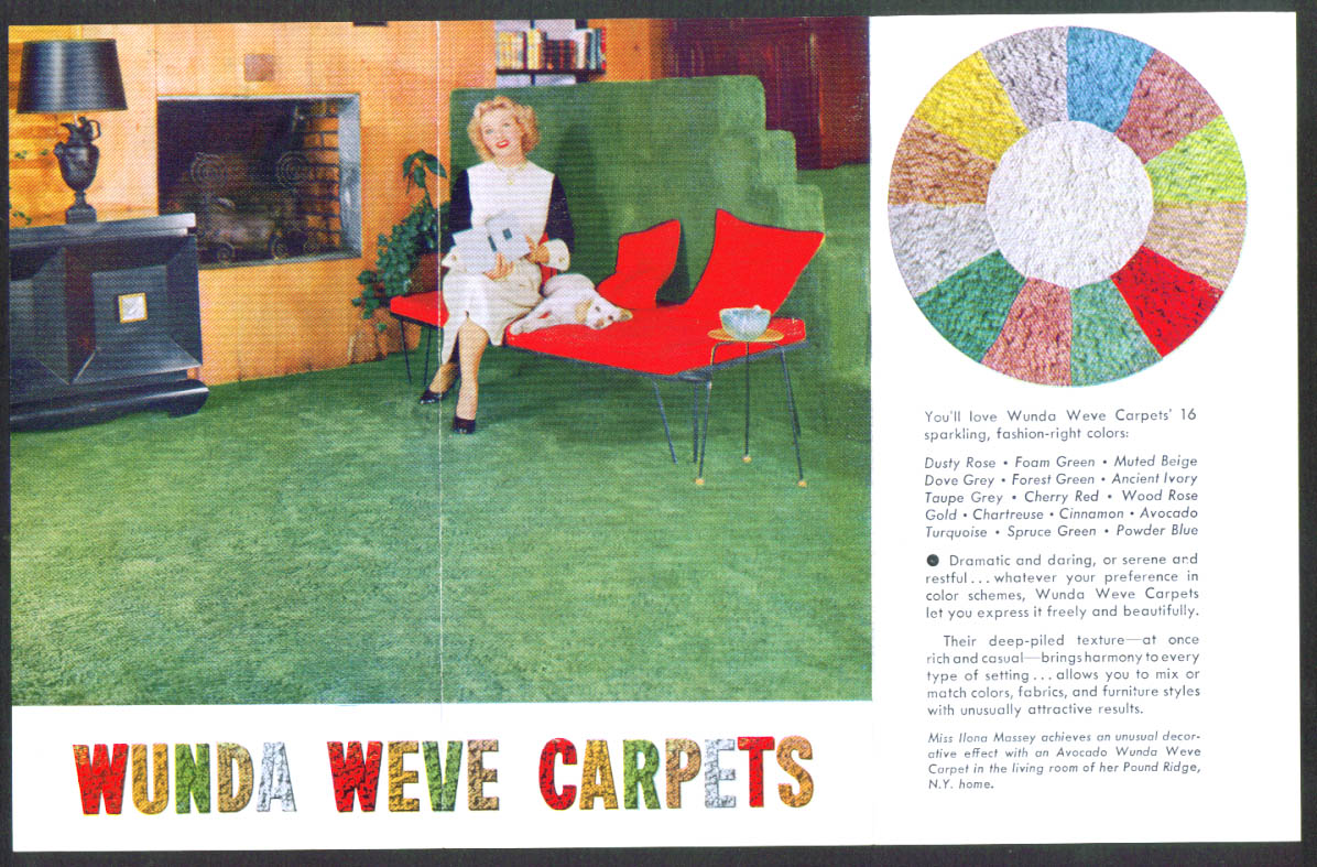 You'll Love Wunda Weve Carpets folder Belrug Mills Inc 1950s