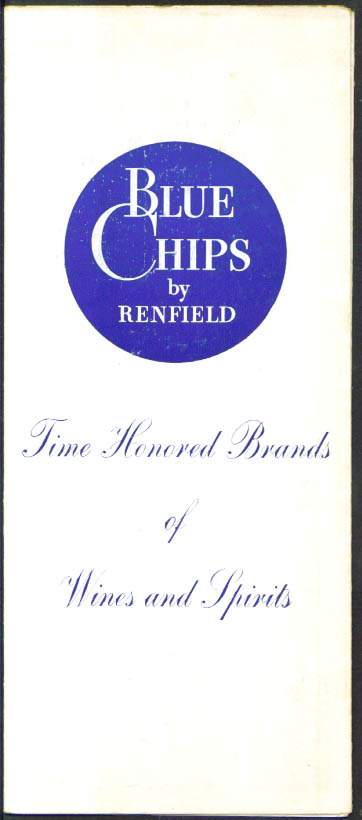 Renfield Blue Chips Wines & Spirits catalogue 1940s