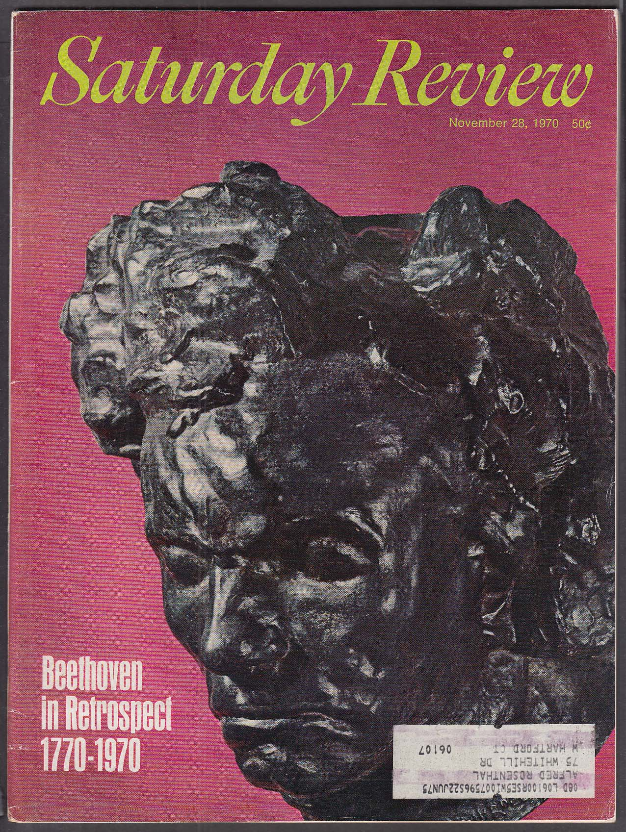 SATURDAY REVIEW Beethoven in Retrospect Wechsberg on Hungary ++ 11/28 1970