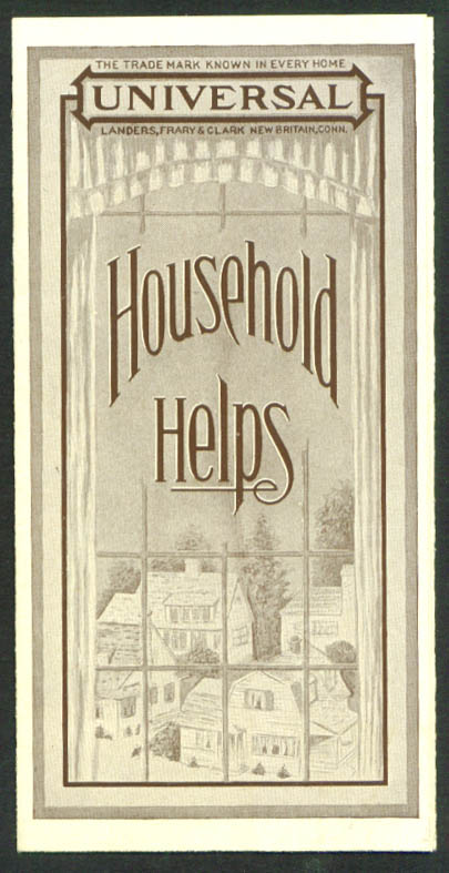Universal Household Helps Vacuum Goods & Electric Appliances folder 1920s