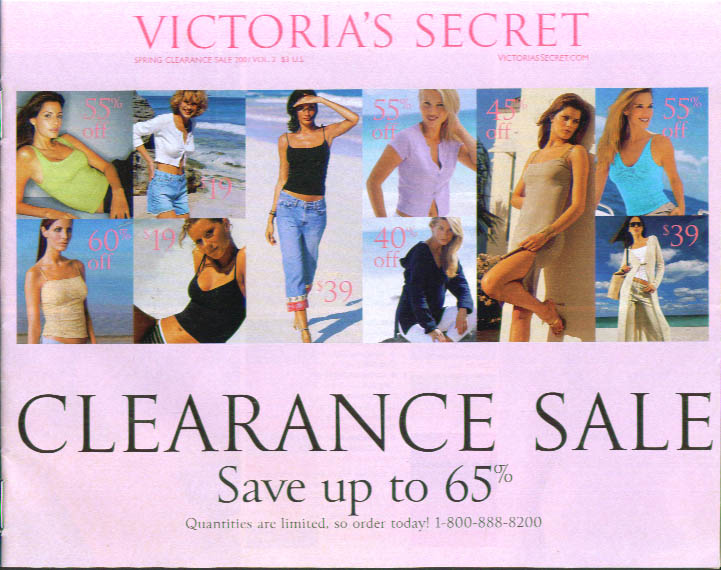Victoria's Secret Lingerie Clearance Sale Spring 2001