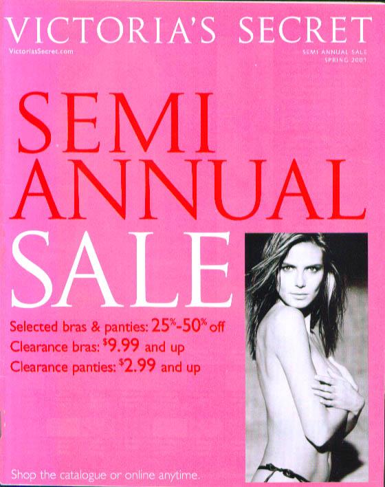Victoria's Secret Lingerie Sem-Annual Sale Spring 2002