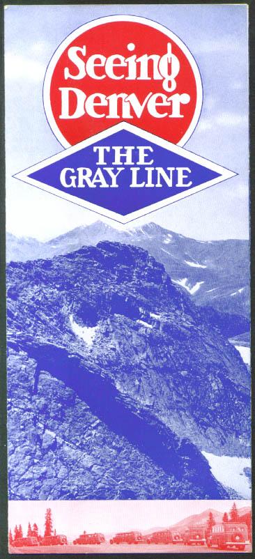 Image for Seeing Denver Gray Line Bus Tour folder 1930s