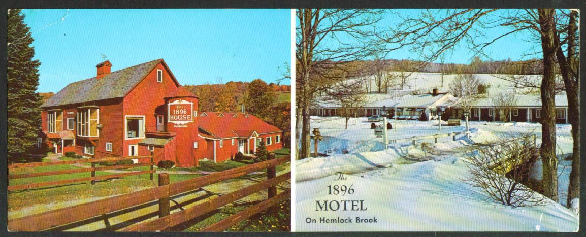 1896 Motel House Wiliamstown MA oversize postcard 1950s