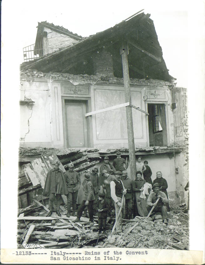 Image for Ruins Convent San Giaochino Italy World War I pic 1918