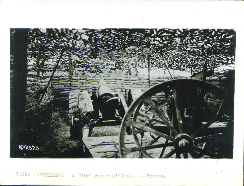Big Gun position in France World War I photo 1918