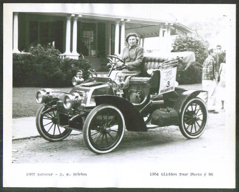 1907 Autocar of J W Hebden Glidden Tour 1954 4x5