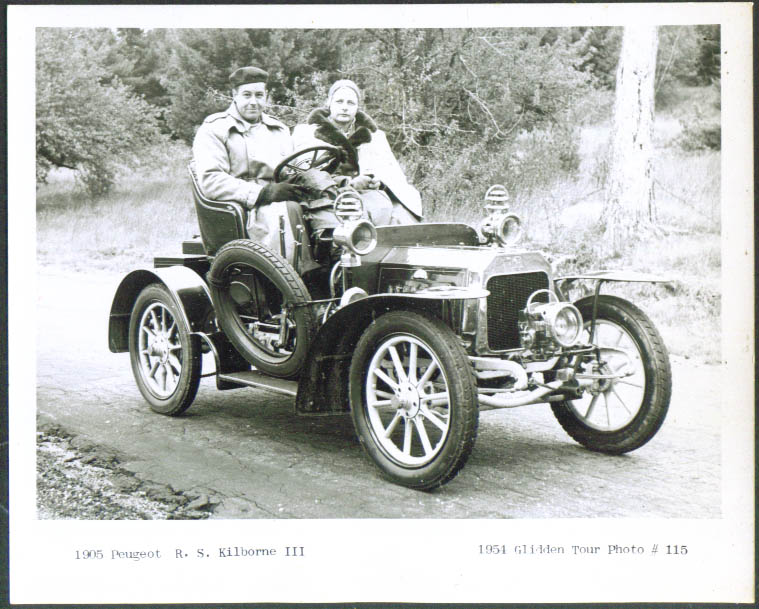 1905 Peugeot of R S Kilborne III Glidden Tour 1954 4x5