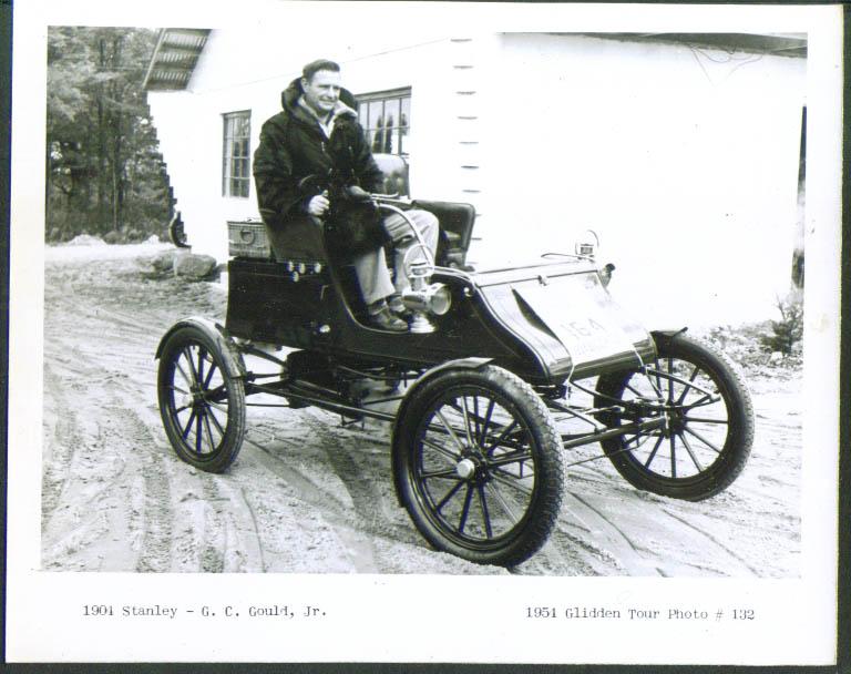 1901 Stanley of G C Gould Jr Glidden Tour 1954 4x5