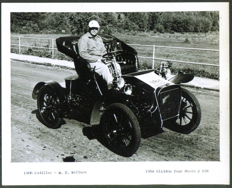 1906 Cadillac of M E Wallace Glidden Tour 1954 4x5
