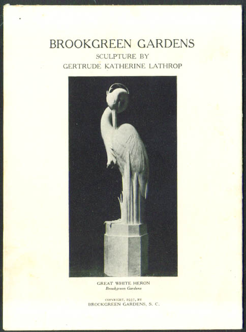 Gertrude Katherine Lathrop Sculpture folder 1937 Brookgreen Gardens SC