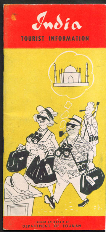 India Dept of Tourism Tourist Information Booklet 1964
