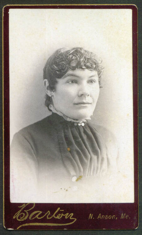 Curly-forehead woman CDV by Barton North Anson ME