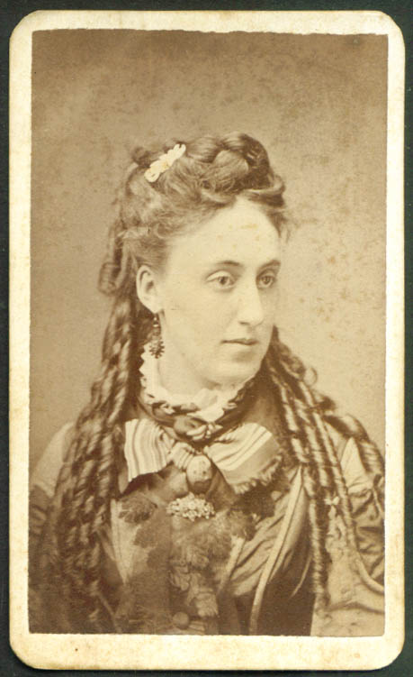 Long face long curls CDV by Burnham Portland ME