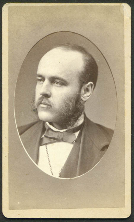 Mustache & muttonchops CDV by J W Turner Boston