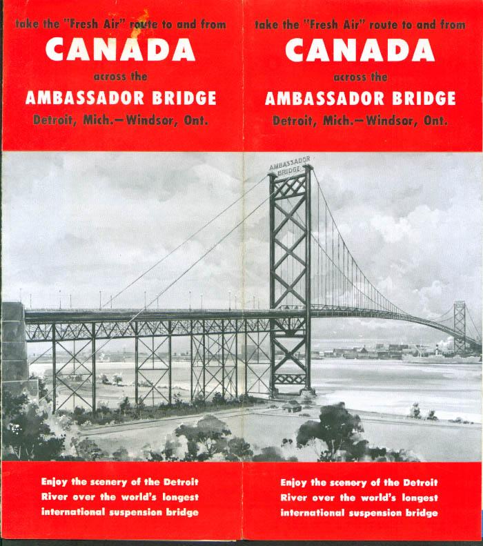 Ambassador Bridge Detroit-Windsor ON folder 1960s