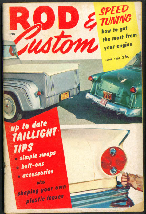 ROD & CUSTOM Taillight Tales Speed Tuning 6 1958