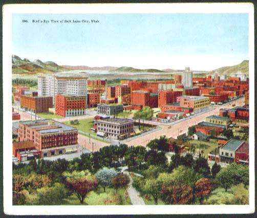 Bird's-eye View Salt Lake City UT jumbo postcard 1910s