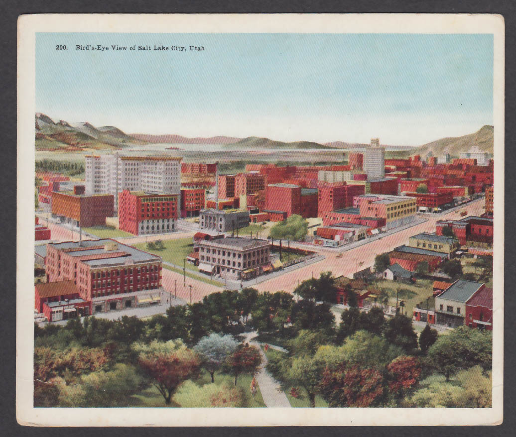 Bird's-eye View Salt Lake City UT jumbo postcard 1910s
