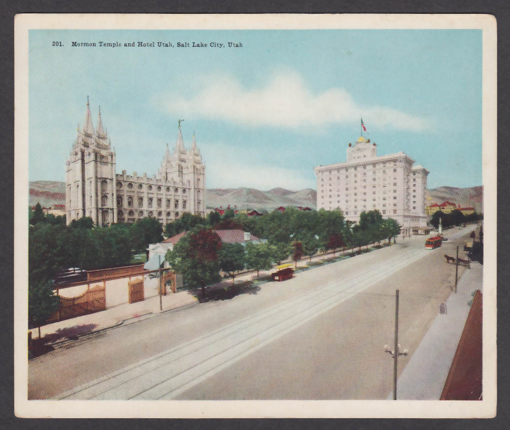 Temple Hotel Utah Salt Lake City jumbo postcard 1910s