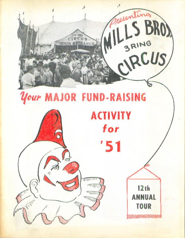 Mills Bros Circus 1951 Invitation brochure