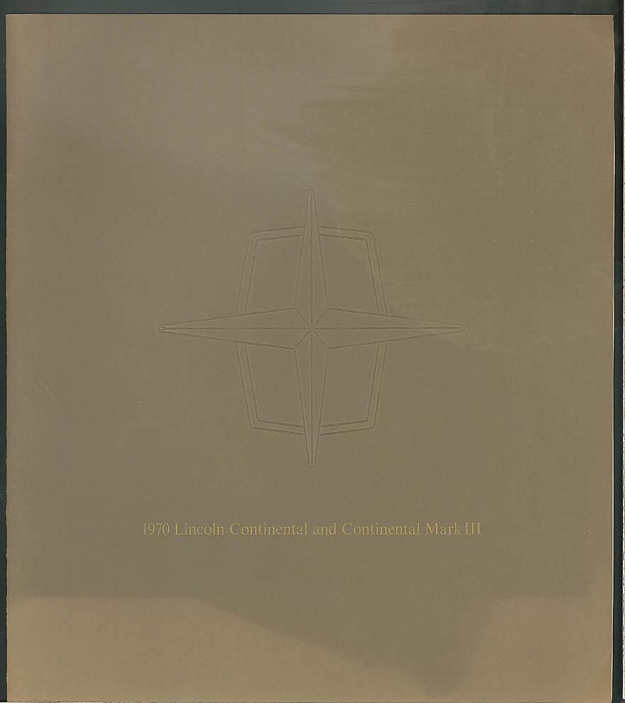 Lincoln Continental & Mark III sales brochure 1970 | eBay
